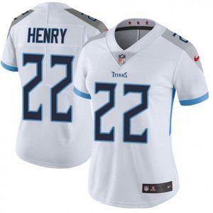 Women Titans Derrick Henry White Jersey